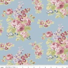 By 1/2 Yard ~ Anne of Green Gables Fabric ~ Floral Blue ~ Riley Blake Penny Rose