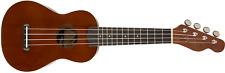 Fender Venice Model Natural Dark Mahogany Finish Soprano Ukulele