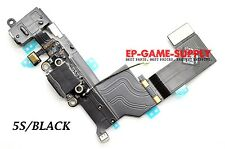USB Charging Port Flex Cable Headphone Audio Dock For iPhone 5S Black