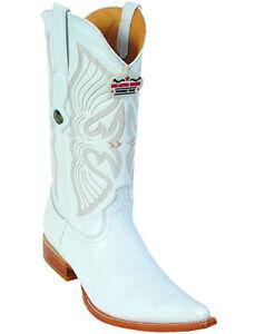 Men's Los Altos Genuine Deer Western Cowboy Boots Pointed Toe 3X