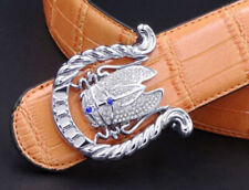 White Cz In 925 Real Silver Beautiful Women's Fine Buckle With Blue &