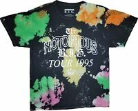 Men's The Notorious BIG B.I.G. Biggie Smalls Retro Tie Dye Tour 1995 T-Shirt Tee