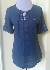 NWT Women Tommy Hilfiger Linen Blouse Size S