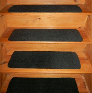 """4= Step 9"""" x 30"""" 100% FLEXIBLE Rubber IN/OUT Door Stair Treads Vinyl Non Slip"""