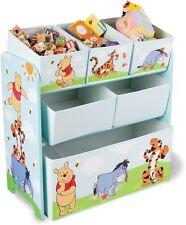 Disney Winnie The Pooh Toy Storage Organiser Box Tidy Clean Bedroom Nursery NEW!