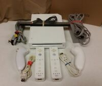 Nintendo Wii White Console (NTSC) with 2 sets of controllers TESTED DISCOUNTED