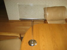 """Chrome Weighted Base Tabletop Open Sign Holder 37"""" Tall Holds 11"""" X 7"""" Sign"""