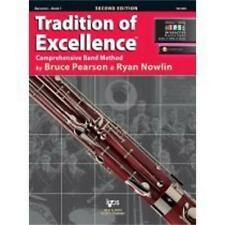 """Tradition Of Excellence """"Bassoon"""" Music Book 1/Online Access Brand New On Sale!"""