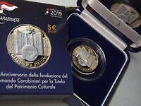 c1d6a1979f ITALIA 2019 moneta da 5 EURO bimetallico Proof Fondazione Comando  Carabinieri