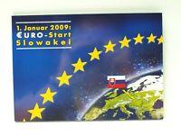 Slowakei 2009 1. Euro KMS + letzter Kronen KMS im Folder ST (GF12469