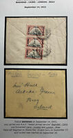 1922 British Occupation RAF Early Airmail Cover To Bray Ireland Via Cairo