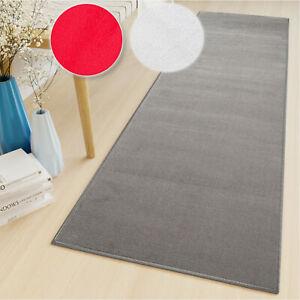 Long Hallway Runner Rug Modern Narrow Plain Carpet Hall Living Room Short Pile