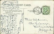 Miss ALderman. The Vicarage. Walton-on-the-Hill, Staffordshire 1905    AG.576