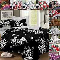 New 3D Duvet Cover Single Double King Quilt Cover Complete 4 Pcs Printed Bed Set