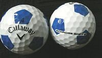 "10 CALLAWAY  ""CHROME SOFT"" - with ""BLUE TRUVIS"" - Golf Balls - ""PEARL/A"" Grades."