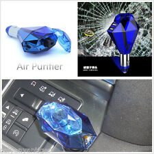 3in1 In-car Air Purifiers Ionizer Freshener Dual USB Charger Window Safety Hamme