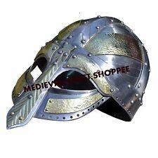 Medieval Gladiator Helmet Armour Helmet Roman knight helmet Larp sca helm