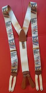 Trafalgar Limited Edition Suspenders Braces Bi-Planes Biplane Rare OOP