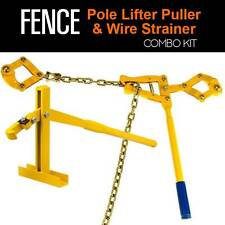 Fence Post Lifter Puller & Wire Strainer POLE POST LIFTER REPAIR 2in1 Combo Kit