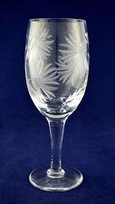 "Royal Brierley Crystal ""CORNFLOWER"" Wine Glass – 17.8cms (7″) Tall – 1st"
