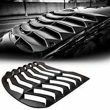 Rear Window Louvers Black Window Scoop Sun Shade Windshield Cover Ford Mustang