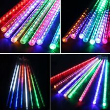 8-tubes 140 LED Connectable Meteor Outside UK Plug Shower Waterfall RGB Lights