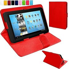 "Universal  Leather Folio Standing Flip Case Cover For 7"" Inch Tablets"