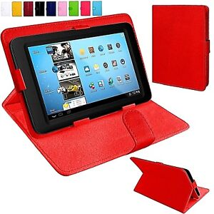 """Universal Leather Folio Standing Flip Case Cover For 7"""" Inch Tablets"""