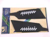 Pair Visors Deflectors Moldings Wipers Front INNOCENTI Mini 90 1
