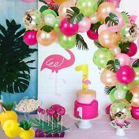 Tropical Hawaiian Latex Balloons Garland Kit Summer Hawaii Flamingo Party Decor