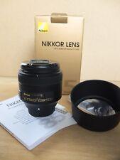 Nikon Nikkor Lens 85mm f/1.8 G
