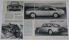 Article Articolo 1969 LANCIA FLAVIA COUPE' 2000 / FULVIA COUPE' 1.6 HF