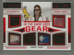 2020 Leaf In The Game Used Sports Jimmy Hart Gear x6 Patch Red 1/3 #ITGUG-10 WWE