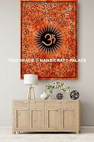 Orange OM Tapestry Hippy Mandala Poster Indian Wall Hanging Table Throw Yoga Mat
