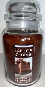 Yankee Candle 22 oz CHOCOLATE LAYER CAKE Large Jar Candle