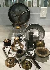 Eclectic Lot of Altered Art Mixed Metals Steampunk Yard Art Supplies