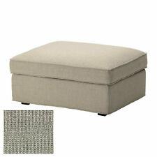 IKEA Cover KIVIK Footstool Ottoman COVER Teno Light Gray Grey Slipcover - NEW