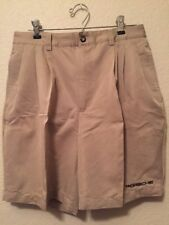 Porsche Pleated Front Casual Shorts Embroidered Logo Beige Men's 32  EUC