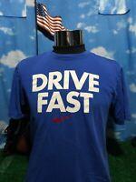 Nike blue Drive fast medium M Shirt T-Shirt dri-fit C14