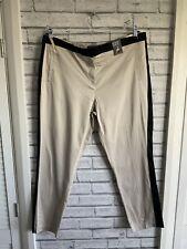 Atmosphere UK 16 tapered leg Fawn/black ladies trousers