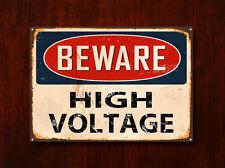 Beware High Voltage , Metal Sign, Beware Sign, Beware Signage, Beware Signs, 370