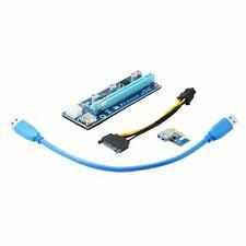 Qumox USB 3.0 PCI-E 1X To 16X Extender Riser Card Adapter Power Cable ETH BTC