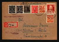 Germany 1947 Registered Cover / Mixed Period Franking - Z14422