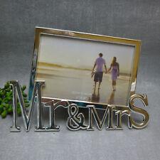 Casablanca Bilderrahmen silber Mr & Mrs edel modern Metall Hochzeit Verlobung