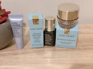 Estee Lauder ADVANCED NIGHT REPAIR Complex ll Face Serum, Power Cream , Cleanser