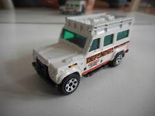 Matchbox Land Rover Defender 110 in White/Orange