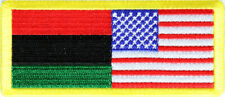 AFRICA AFRICAN AMERICAN FLAG BIKER IRON ON PATCH