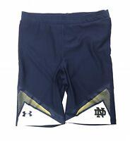 Under Armour Notre Dame Irish Track and Field Half Tight Short Men's XL Blue Run