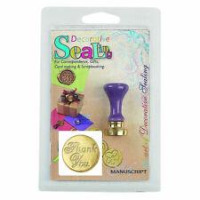 Manuscript Sealing Wax Coin Seal & Handle - Thank you