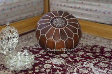 Authentic MOROCCAN POUF Leather Pouf Ottoman Pouffe footst